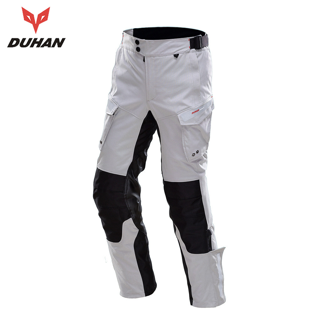DUHAN Professional Men Motorbike Trousers Waterproof RainProof Men's Motorcycle Hip Protector Touring Venture Motorcycle Pants(China (Mainland))
