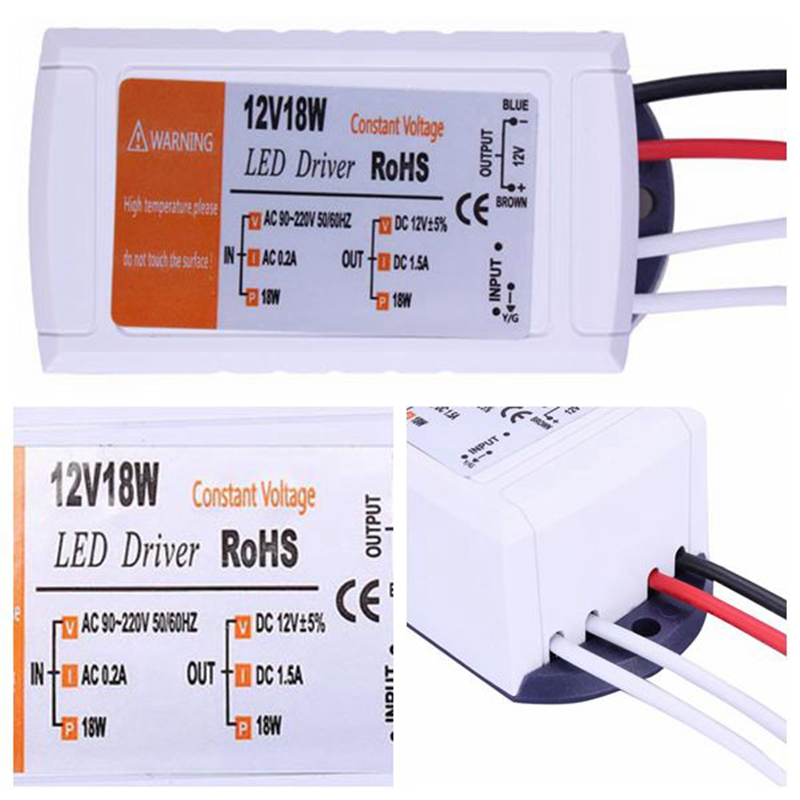 12V 1.5A 18W Power Supply AC/DC adapter transformers switch for LED Strip RGB ceiling Light bulb Driver Power Supply 90V-220V(China (Mainland))
