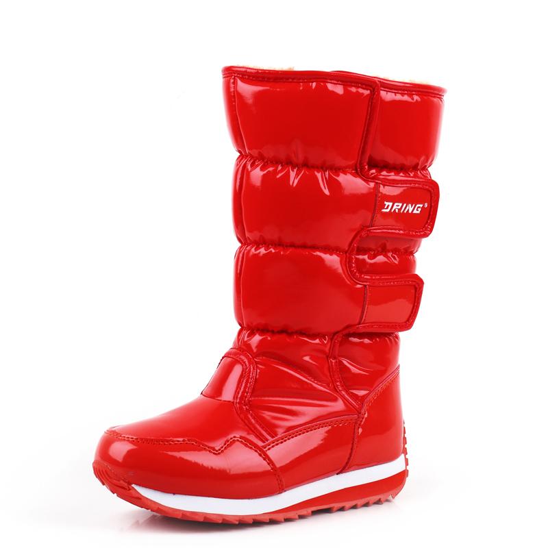 2015 winter Children snow boots boys &girls non slip waterproof ...