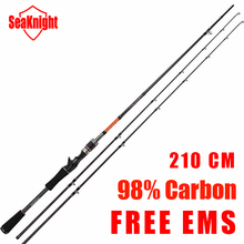 Free EMS Seaknight BEST BAIT CASTING FISHING ROD 98% High Carbon VARA DE PESCA Gun Handle 2.1 m  Metal Strong Rings