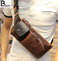 New fashion style Crazy horse PU leather men chest pack sports small bag CrossBody Shoulder bag
