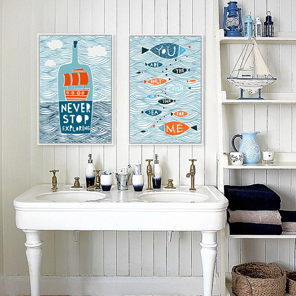 Fish themed bathroom