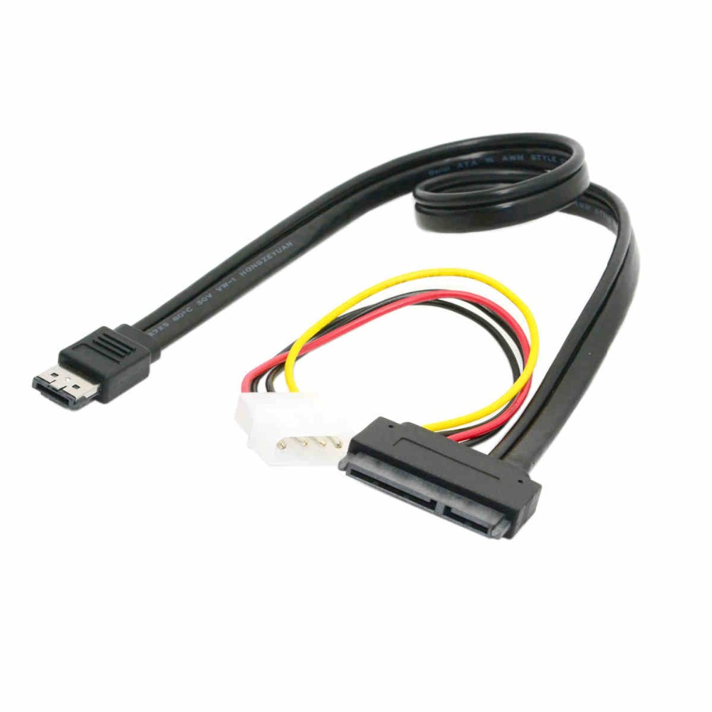 Power e SATAp to 22Pin SATA + IDE Molex Power Combo Cable for 2.5 3.5 External Hard Drive 50cm(China (Mainland))