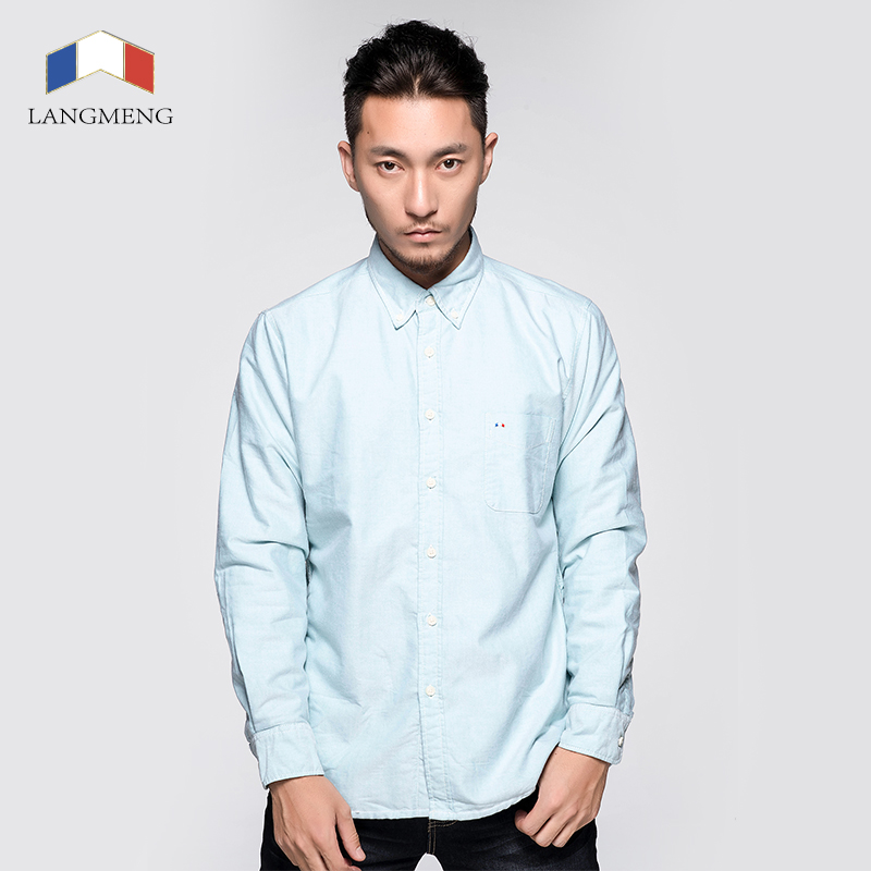 free shipping winter men 100% cotton oxford shirts warm velvet outwear formal casual shirts male popular dress shirts size XXXL