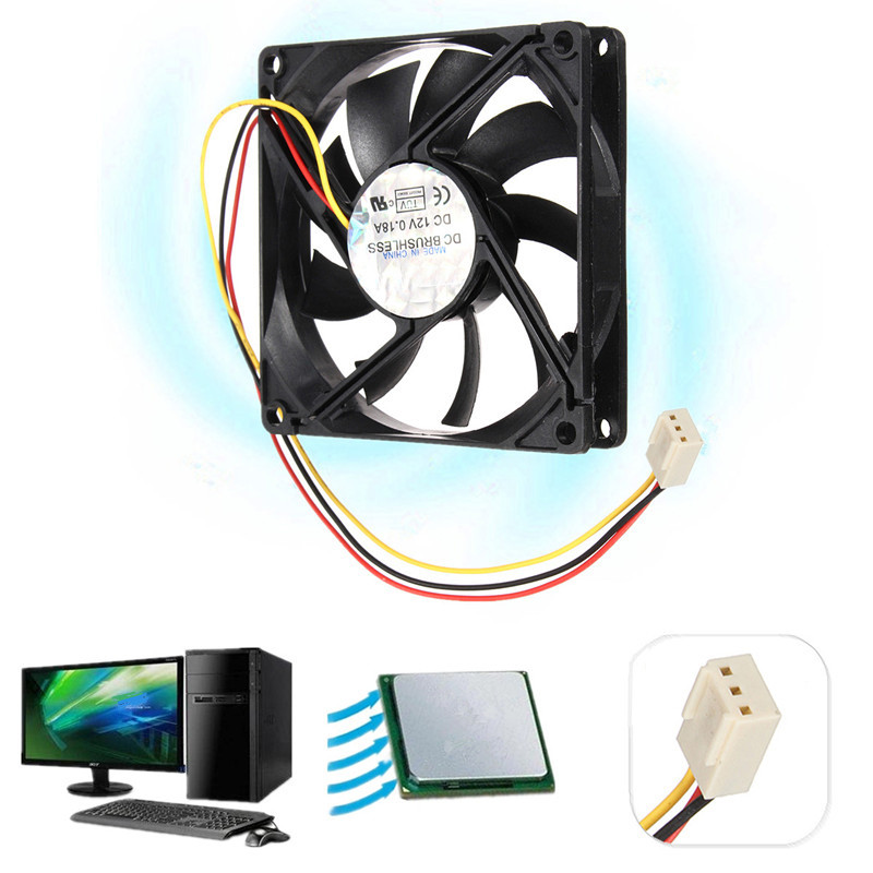 DC 12V 3 Wire Pin 80mm x 80mm x 15mm Cooling Cooler PC Computer Case CPU Fan Airflow(China (Mainland))
