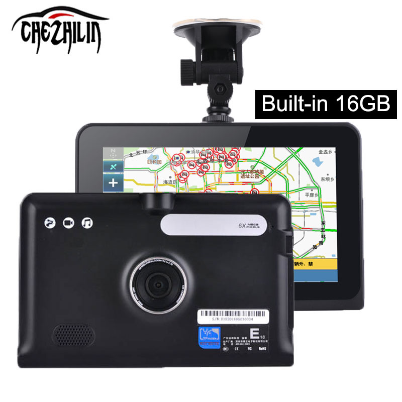 7 inch Android GPS Navigation DVR HD1080P Allwinner A23 Dual Core Capacitive Touch Screen DVR FM Built in 16GB/8GB Free Map(China (Mainland))