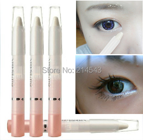 1PCS Pearl White Pencil Eyeliner Cosmetic Makeup glitter sexy Eye liner(China (Mainland))