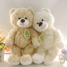(1 piece) 30cm Small Cute Teddy Bears Stuffed Animals Soft Plush Toys White Beige Brown Hold Bears Bow/Necklace Randomly Deliver(China (Mainland))