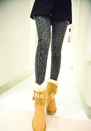 5pcs/lot 3 colors 2012 Hot sale ladies fashion new styles panther printed cashmere warm stretch pants