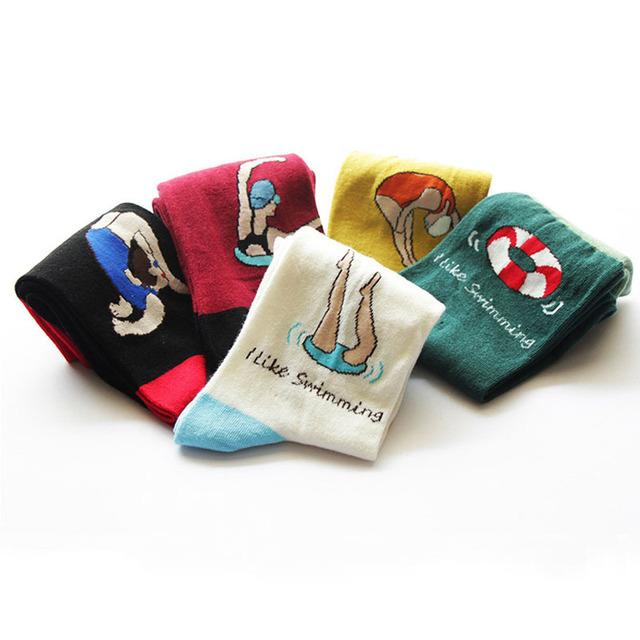 2015 новинка новинка мужская Women' носки корейской творческой мужчин девочка долго носок Harajuku искусства носки хлопка для любителей
