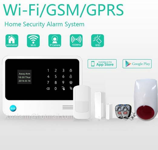 New Home Secutity Trend Wifi Gsm Gprs Sms Alarm System No