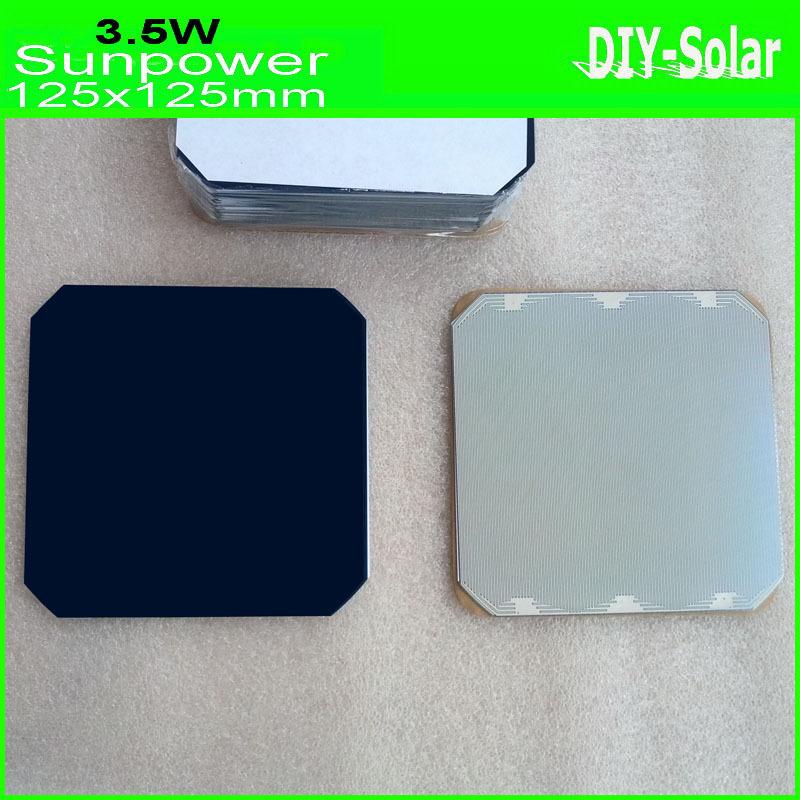 buy cheap 24% high-efficiency Sunpower Solar Cells 125mm Monocrystalline 3.5W 30pcs/lot for flexible Solar Panel 100W(China (Mainland))