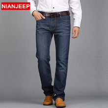 NIAN JEEP 2016 Middle-aged men's big size 28-42 casual brand spring straight denim jeans man trouser autumn long cowboy pant 847(China (Mainland))
