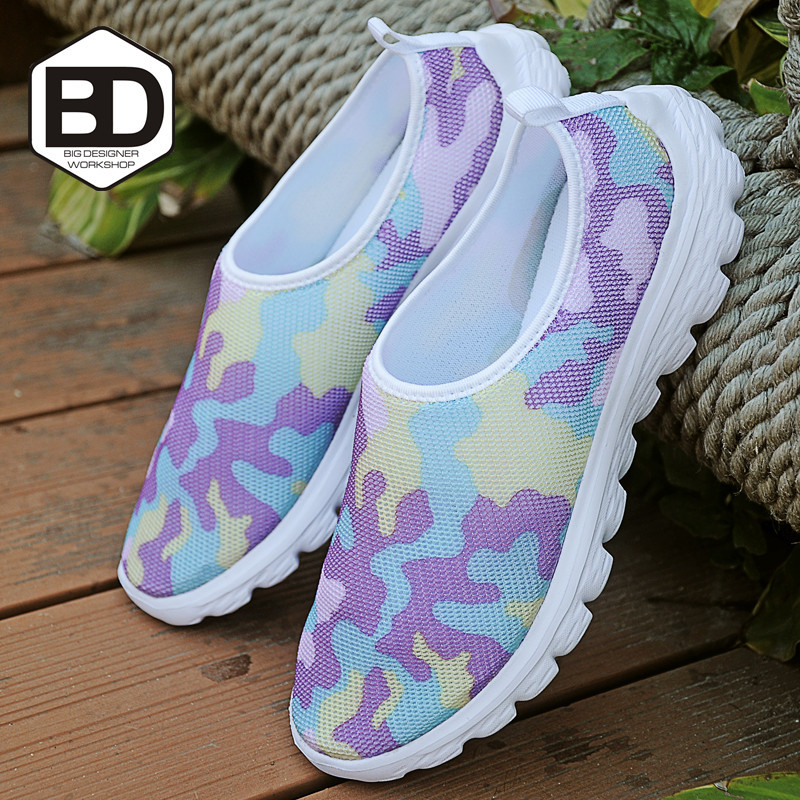 Hot Sale Breathable Mesh Light Sport Shoes high quality sports brand graffiti women sneakers confortable Flats shoes(China (Mainland))