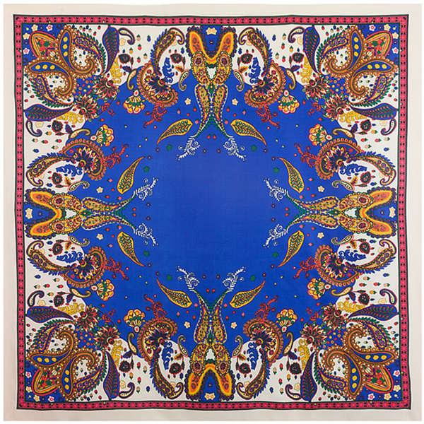 100% Twill Silk Women Scarf 100*100 cm Bohemia Cashew Print Square Scarves Turban Good Quality Plus Size Gift Silk Shawls(China (Mainland))