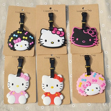 1pcs popular Hello Kitty Luggage tag Styles cartoon  Hello kitty suitcase baggage tag cute travel bag tags(China (Mainland))
