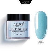 Azure Kecantikan Gradien Warna Mencelupkan Bubuk Nail Art DIP Bubuk Glitter Set Dasar Mantel Atas Gel Nail Kit Azure Kuku DIP Bubuk(China)