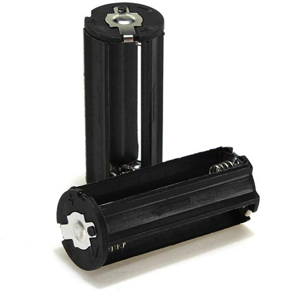 image for Factory Price Black Cylindrical 3 AAA Plastic Battery Holder Adapter C