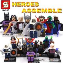 Super Heroes Minifigures 6-8pcs/set SY258 Figures Building Blocks Hawkeye Cyborg Poison Ivy NOVA Red Robin Galactus Deadpool(China (Mainland))