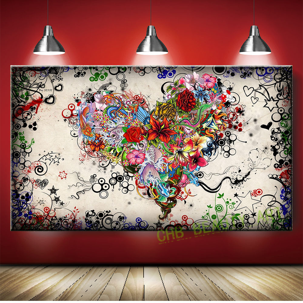 Abstract flower art koop goedkope abstract flower art loten van ...