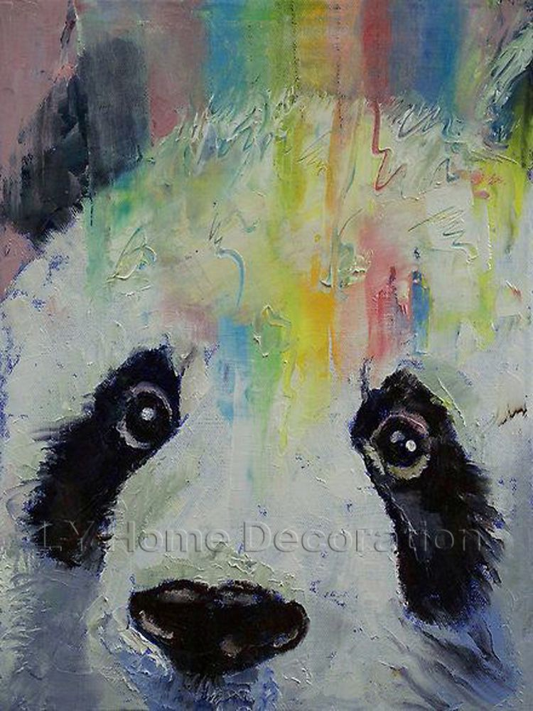 High quality animal paintings cute animal china panda oil for Cute abstract art