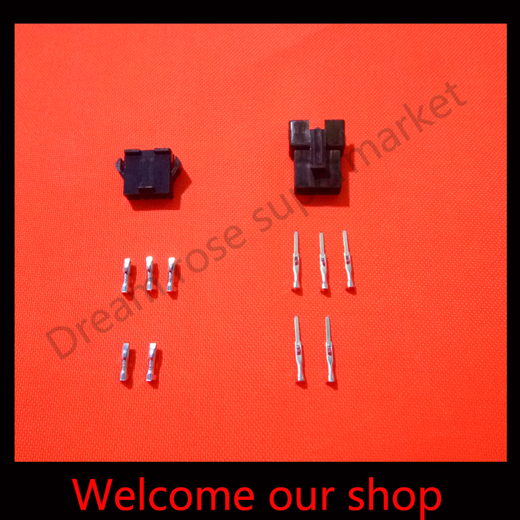 200 sets Black 5Pin/way terminal kit  Wire connector 2.54mm SM-5P Kit (male&amp;female Housing+Terminal) for car / boat / ship.<br><br>Aliexpress