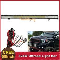 CREE 50'' Inch 324W LED Light Bar Offroad Spot Flood Combo Beam ATV SUV 4WD 4X4 Bumper Driving Lamp 12V 24V Auto Styling Lamp