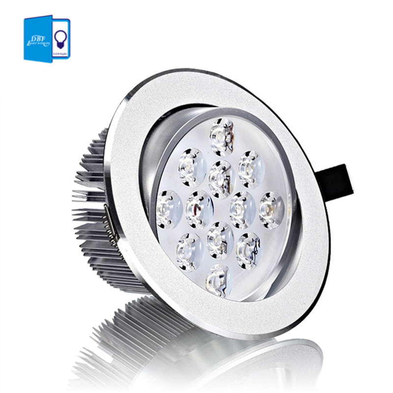 [DBF]CREE 3W 5W 7W 9W 12W 15W LED Downlight Dimmable Warm White/Cold White LED Recessed Ceiling Spot Light +LED Driver AC85-265V(China (Mainland))