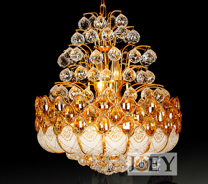 Buy traditional crystal chandeliers lighting gold palace light luxury hotel - Popular chandelier styles ...