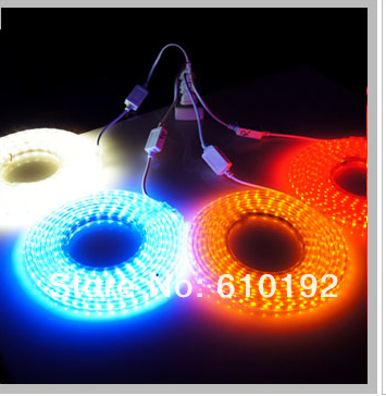 DHL Free shipping 220v SMD3528 flexible copper wire led light strip 50M 60led/m 4.8w/m waterproof white/cold red RGB with plug(China (Mainland))