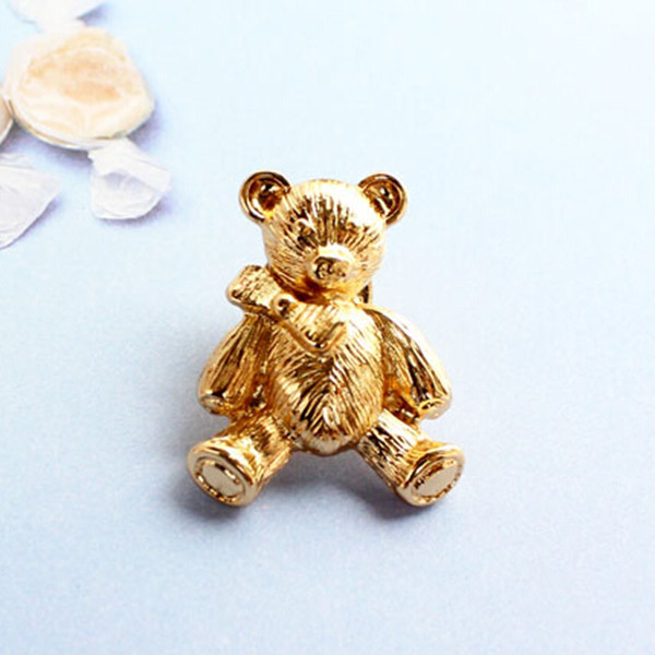 Cute Bear Brooch Gold Plated Cheap Brooches For Women Wholesale Brooch Pins Bijoux Popular Fine Collar Jewelry Top Quality (China (Mainland))