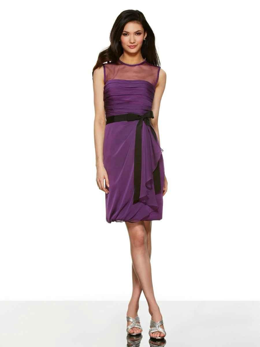 New Short Homecoming Dresses High Collar Purple Vestido De