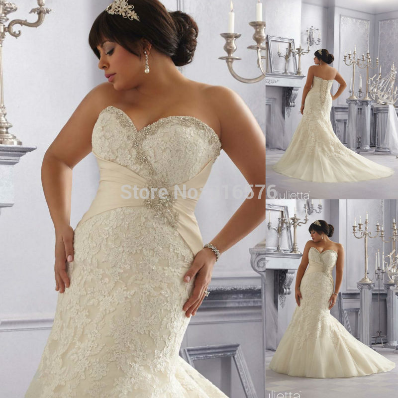 Cheap Plus Size Mermaid Wedding Dresses Fashion Dresses