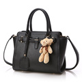Ladies 2016 New Retro Handbag Cross Pattern Ornament Solid Color Simple Shoulder Bag Designer All match