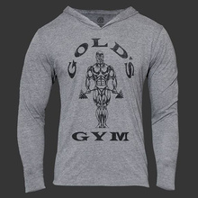 Mens Bodybuilding Hoodies Golds Gym Brand-clothing Workout Slim Fit Fitness Shirts Hooded Sport Suits Tracksuit Sportswear(China (Mainland))