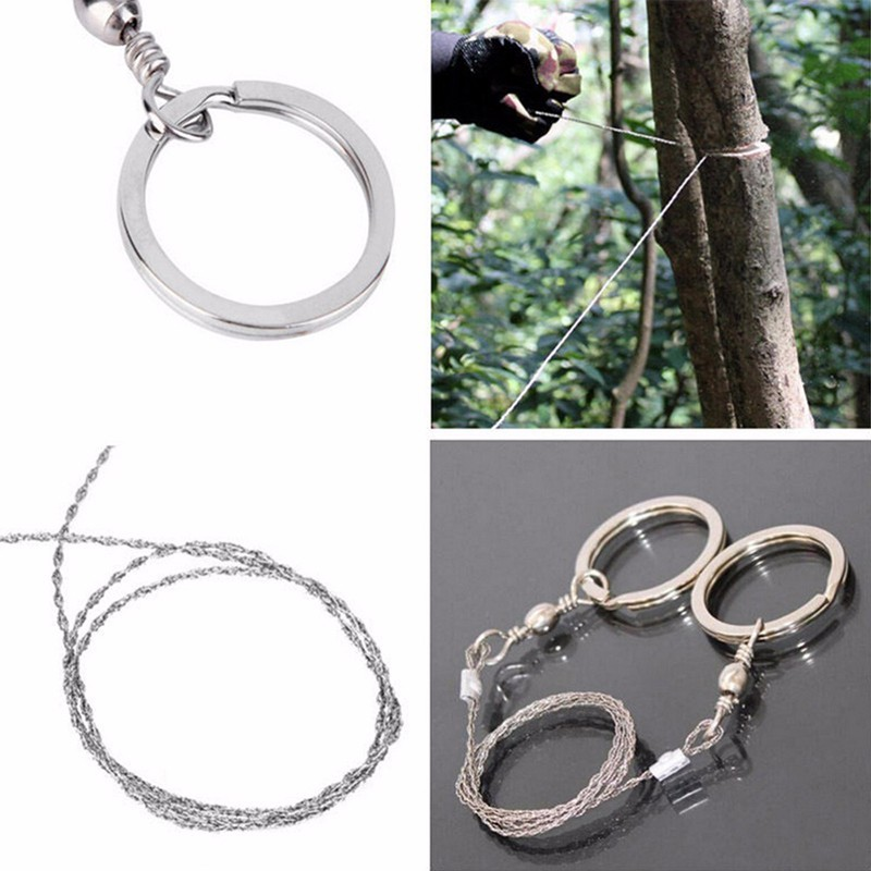Outdoor Travel Camping Emergency Survival Gear Climbing Survival Hand Tool Plastic Steel Wire Saw Ring Scroll