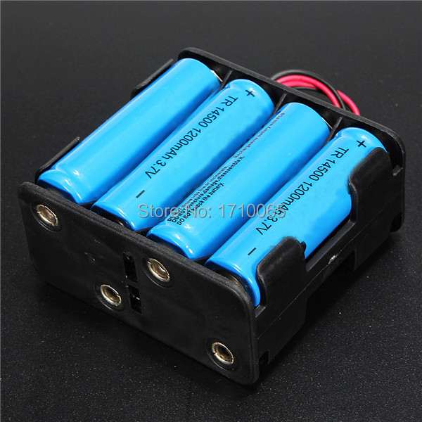 High quality 58x61x30mm Plastic 12V Battery Clip Slot Storage Holder Box Case for 8pcs AA Batteries with 6 Leads Wire(China (Mainland))