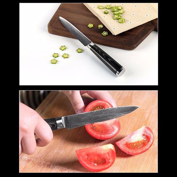 Buy 2016 7'' Stainless Steel Damascus Steel Kitchen Chef Knife multifunctional Janpanese Fruit Vegetables Knives Cleaver Knife cheap