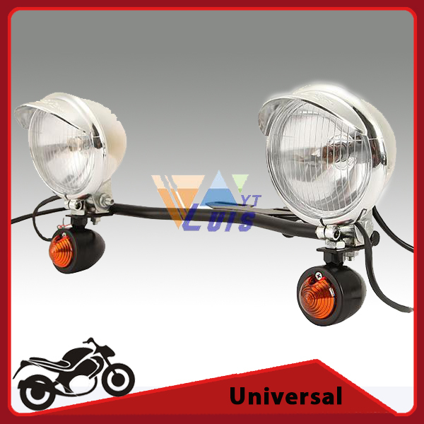 Universal Motorcycle Headlight Passing Light Bar Bullet Turn Signal for Suzuki VZ 800X Marauder VS 700GLEPG Intruderla Savage(China (Mainland))