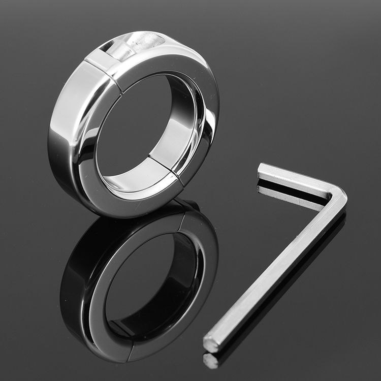 150g in-Dia 37mm stainless steel Scrotum Stretcher ring metal Locking Hinged pendant ball Weight for CBT Chrome sex toys(China (Mainland))
