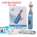 electronic cigarette eT 50 Kit 50W E cig atomizer 2 5ml mini fog vaporizer 18650 battery