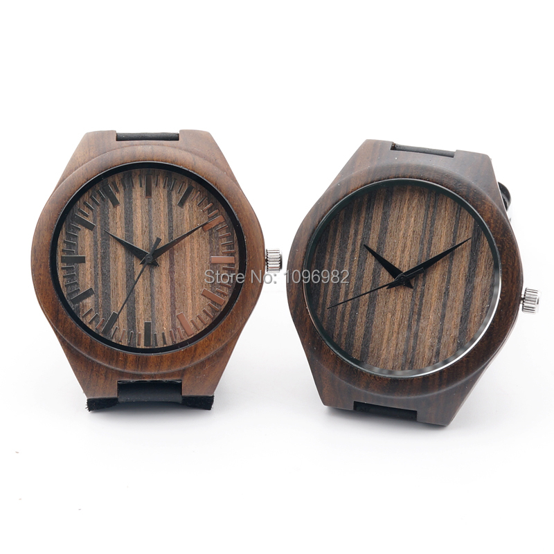 Ebony Wooden Watch Wristwatches Japan quartz watches With Genuine Cowhide Leather Straps Causal Luxury Wood Watch high quality<br><br>Aliexpress
