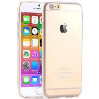 I6 super flessibile chiaro caso di tpu per iphone 6 da 4.7 pollici sottile cristallo posteriore protegge la copertura del telefono di gomma della pelle fundas caso del gel del silicone