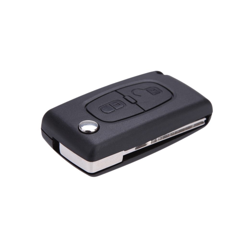Uncut Blade Car case Replacement Key Shell Key Protection Cover Flip Remote Key for PEUGEOT 207