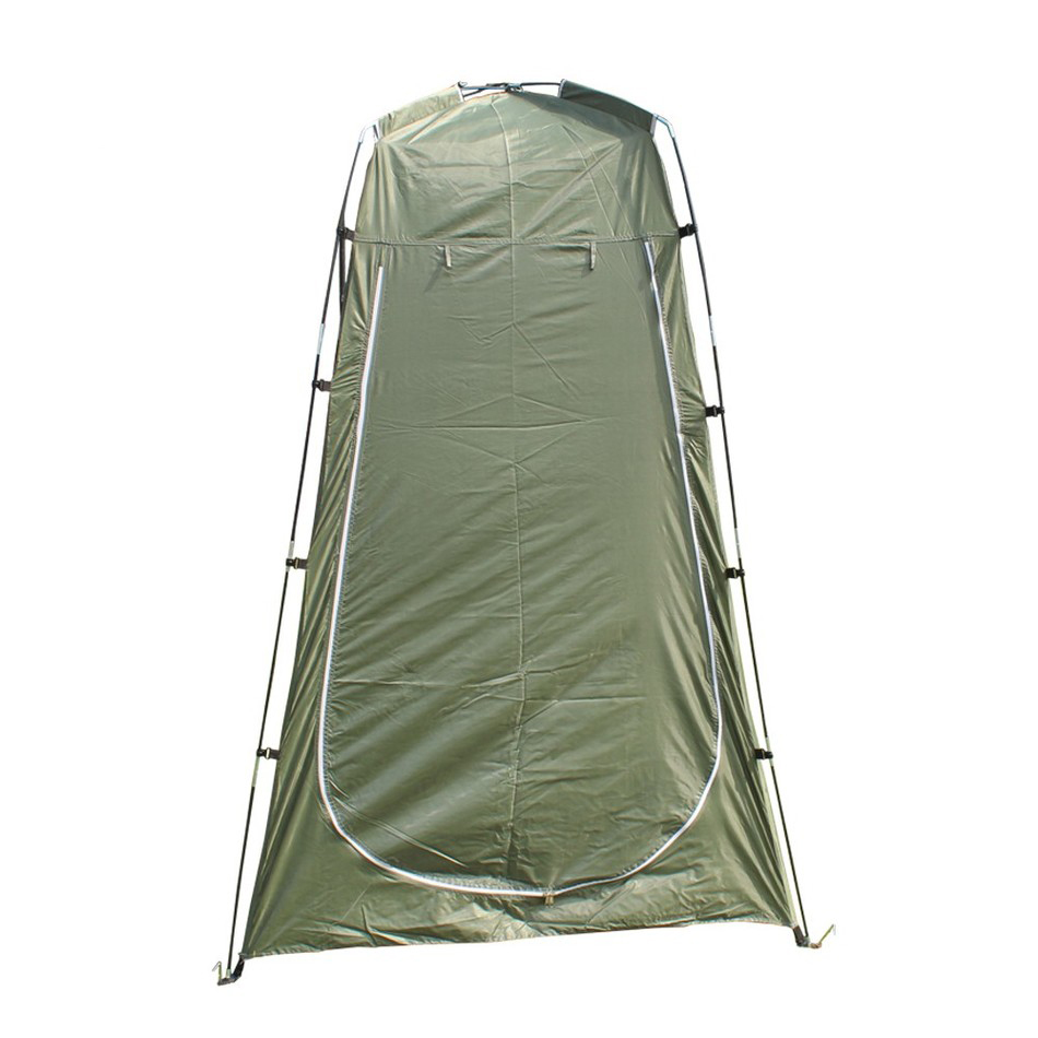 Outdoor Toilet Tent Camping Shelter Portable Shower Tent Changing Room Privacy Tente Ultralight Army Green White(China (Mainland))