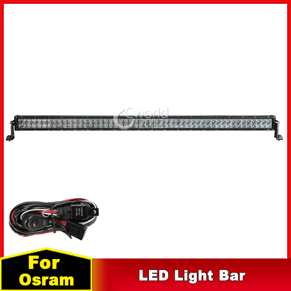 52 inch 500W OSRAM 4D LED Work Light Bar 12V Combo Beam Spot Flood Light Offroad Trailer Truck 4x4 Car ATV Roof Driving Lamp DRL(China (Mainland))