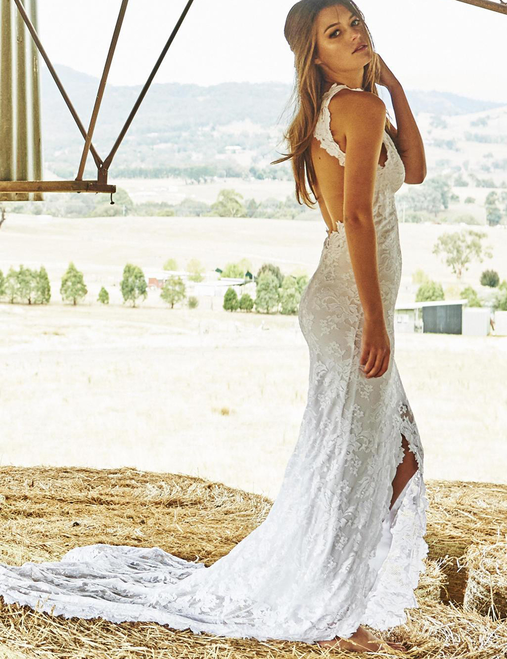 Mermaid bridal gown picture more detailed picture about for Beach bohemian wedding dresses