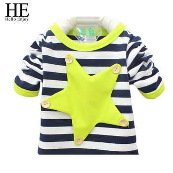 Free shipping spring autumn fashion children t shirts unisex striped long sleeve t-shirt baby boys cotton sport tops t shirts