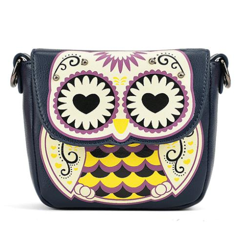 2014 Cheap Products Women's Splicing Color Shoulder Cross Body Bags Owl Pattern Holder Cover School Handbags Small Bag Wallets(China (Mainland))