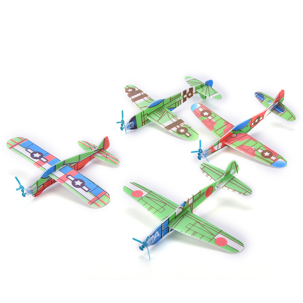 12Pcs boy's gift DIY Assembly Flapping Wing Flight Model Imitate Birds Aircraft Toys For Children Flying Kite Paper Airplane(China (Mainland))